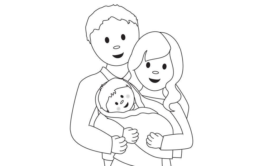 Dessin d 39 une famille activit s coloriage et jeux en ligne coloriage - Coloriage de la famille ...