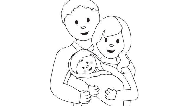 dessin d 39 une famille activit s coloriage et jeux en ligne coloriage. Black Bedroom Furniture Sets. Home Design Ideas