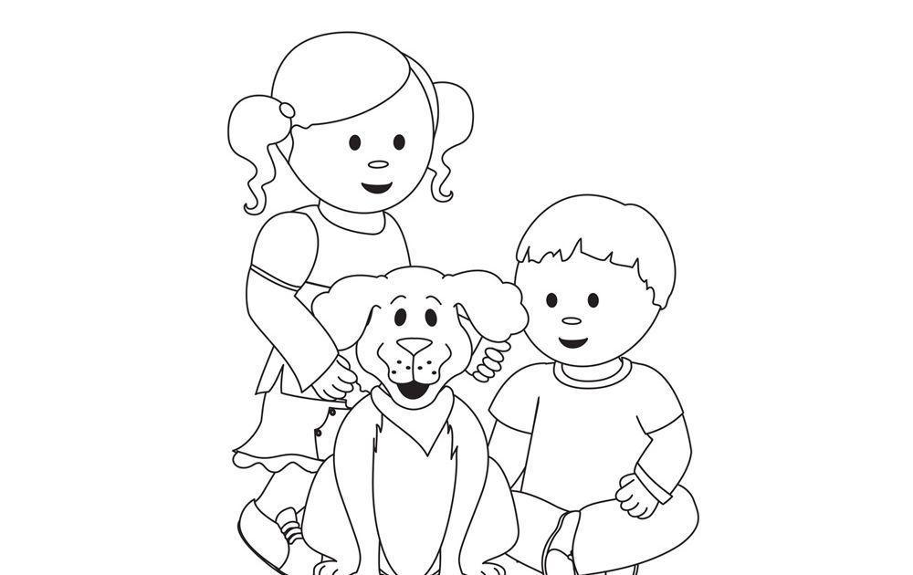 dessin d 39 enfants et d 39 un chien activit s coloriage et jeux en ligne coloriage. Black Bedroom Furniture Sets. Home Design Ideas