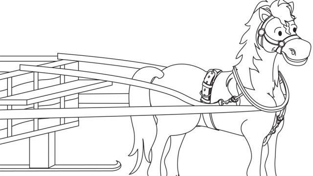 Dessin sur la cabane sucre cheval activit s - Coloriage de cabane ...