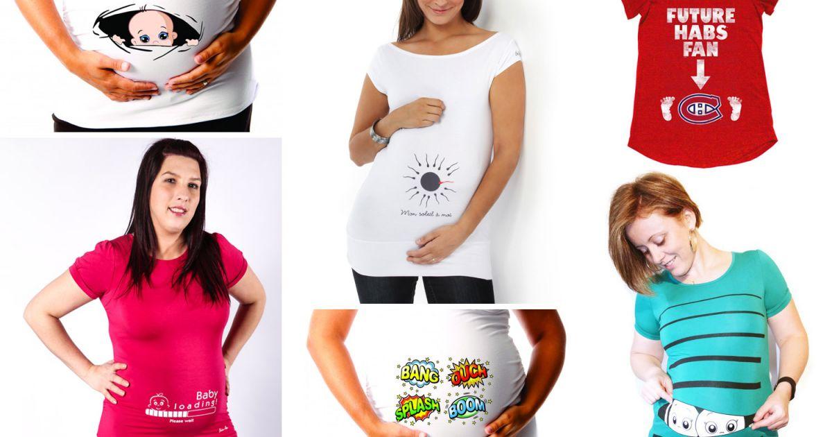 Très T-shirts adorables de grossesse - Grossesse/Maternité - Bien-être  DK19