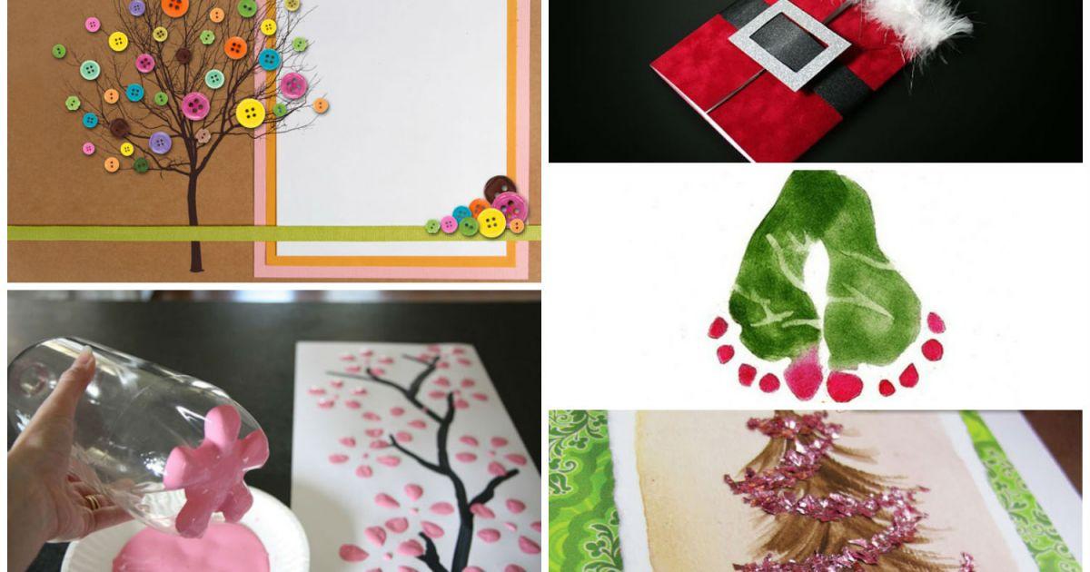5 belles cartes de no l fabriquer loisirs bricolage projets et exp riences. Black Bedroom Furniture Sets. Home Design Ideas