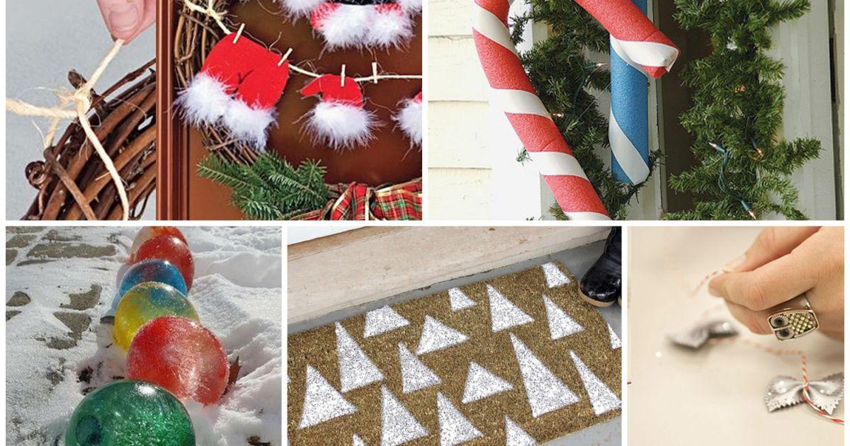 5 d corations ext rieures de no l fabriquer loisirs - Decorations exterieures de noel ...
