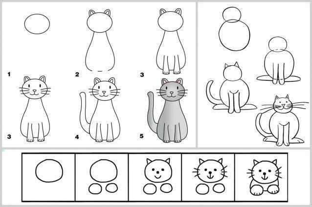 Chat - Dessiner un ours en maternelle ...
