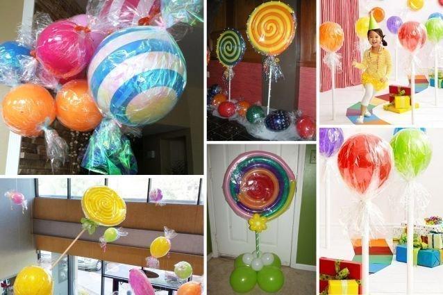 faux bonbons en ballons gonflables. Black Bedroom Furniture Sets. Home Design Ideas