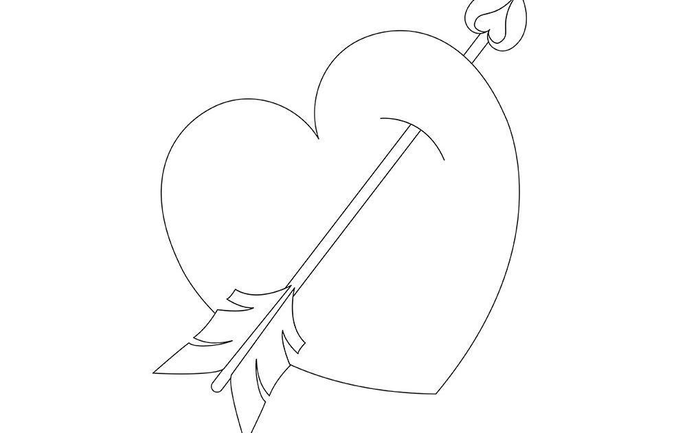 Dessin D Un Cœur De St Valentin Activités Coloriage Et