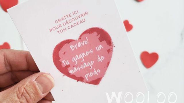 Carte A Gratter Pour La St Valentin Diy